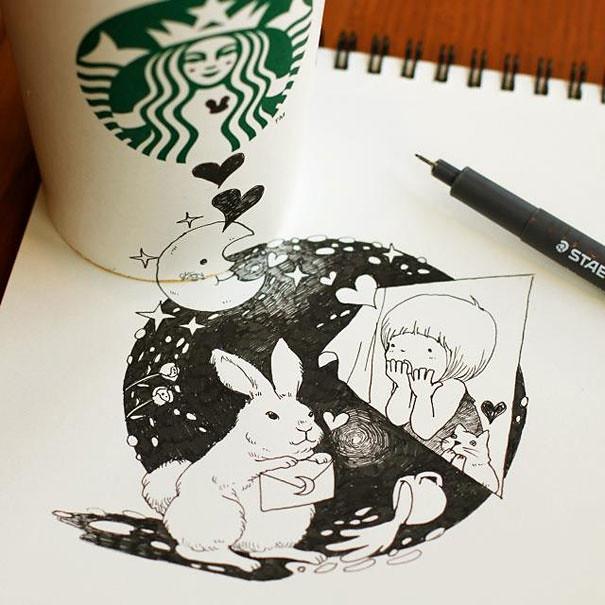 starbucks-cups-3d-drawings-tomoko-shintani-4