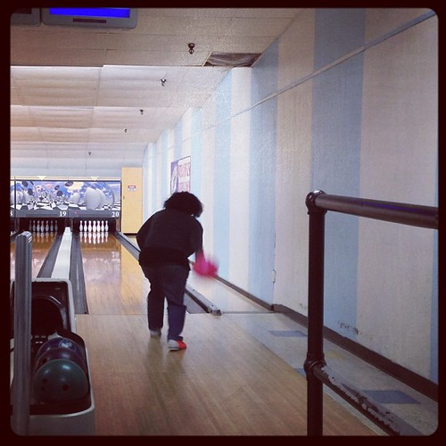 I bowl with a pink ball!
