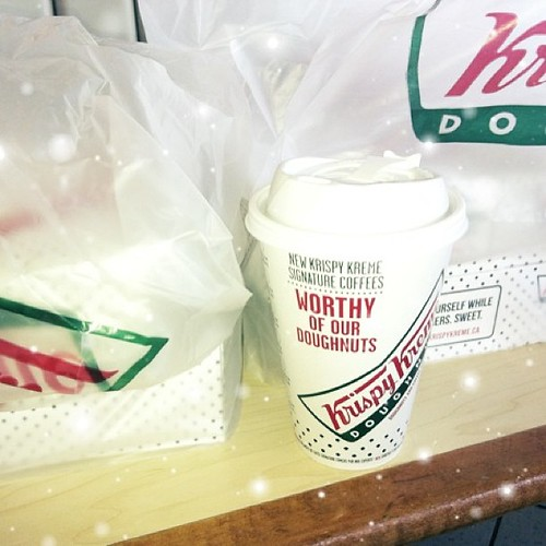 Picked up out #wagjag #krispykreme deal~ let the weight gaining begin!!