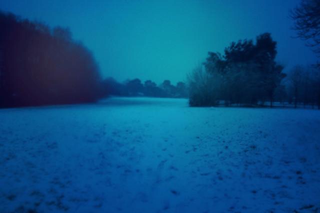 Snowy field in Christchurch