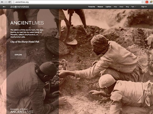 Zooniverse: Ancient Lives