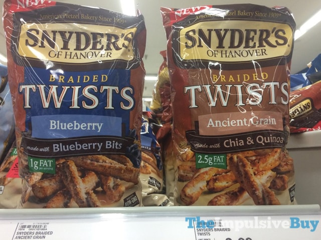 Snyder's of Hanover Braided Twists (Blueberry and Ancient Grain)