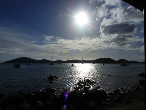 11-14-12 St.Thomas, VI 10 - Sun over Harbor