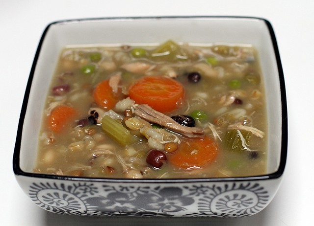 Zuppa del casale - Mixed Legume Vegetable Minestrone Soup Recipe