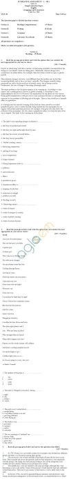 CBSE Board Exam 2013 Sample Papers (SA1) Class X - English Lang. & Lit.