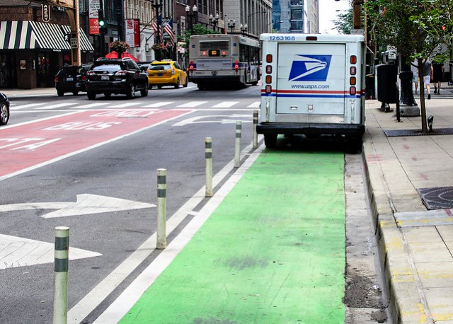 USPS Blocking Bike Lane - Washington