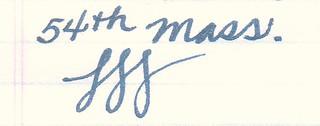 Noodler's 54th Massachusetts Ink on Ampad Gold Fibre