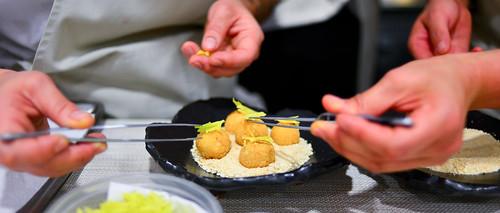 "Canapé: Geoduck ""Chowder"" Fritters"