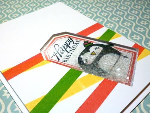 Birthday Shaker Penguin - Close Up