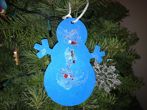 Annie's first handmade ornament