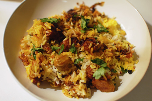 Leftover Pork Belly Biryani