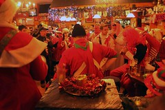 Inside a packed pub on Wren's Day (December 26th), Dingle, Ireland.