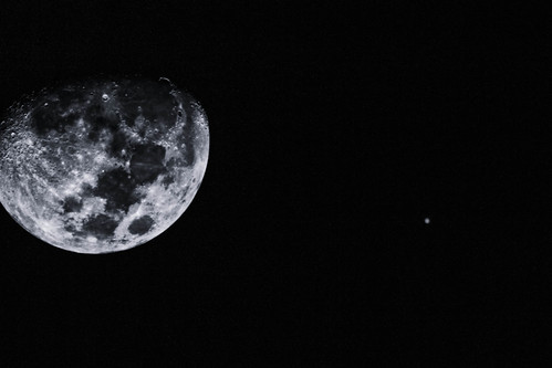 Moon & Jupiter-1-3 by Bill's Flik Pics
