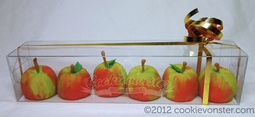 Teacher's Gift Set - mini 3D Shortbread cookie apples