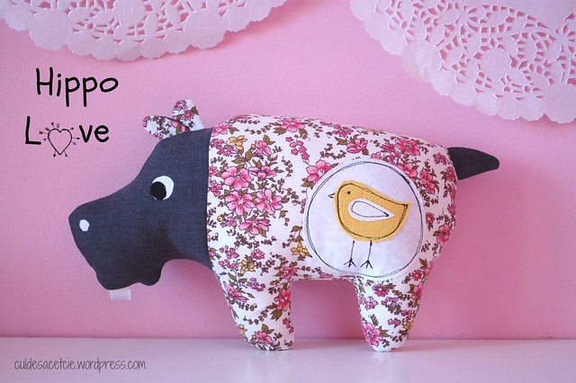 Eco-friendly stuffed Hippopotamus