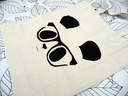 Handmade Panda Tote Bag