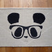 Geek Chic Panda Door Mat