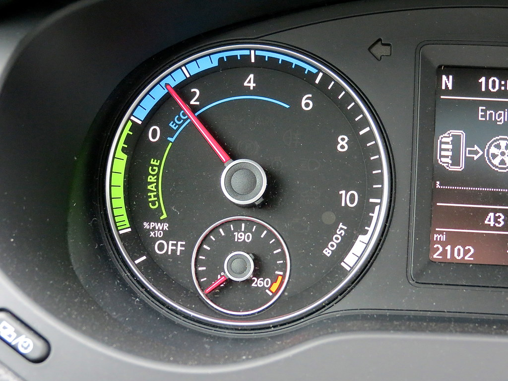 VW Jetta Hybrid Guage