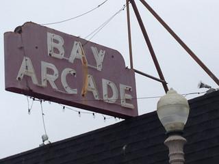 Bay Arcade Neon Sign in Balboa