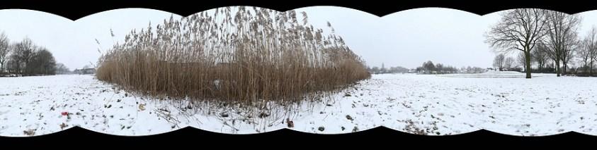Het resultaat van een panorama met een horizontaal georiënteerde camera