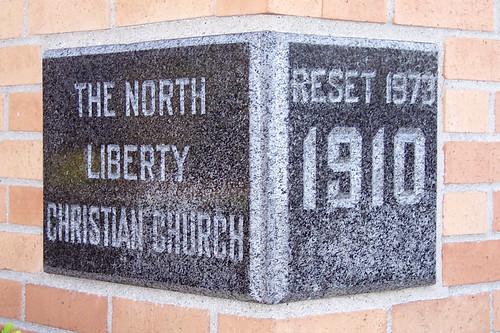 North Liberty Christian Church cornerstone