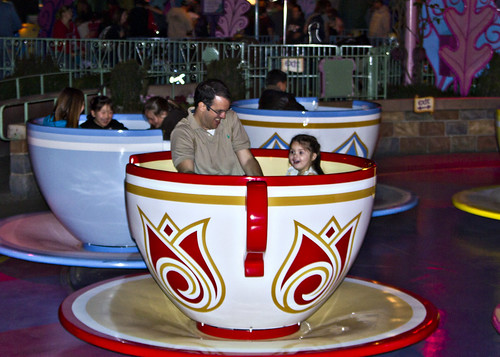 on the teacups
