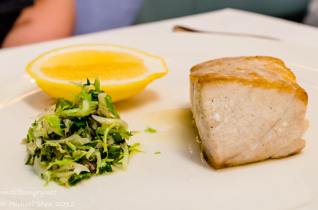 Icebergs - Yellow Fin Tuna served with Sorrel, Parsley, Lemon Butter Sauce or Roasted Tomato