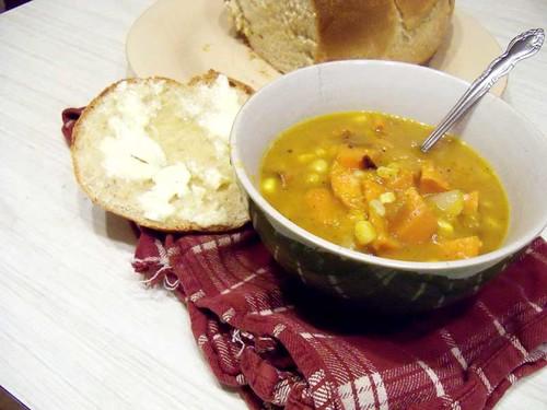 sweet potato corn pumpkin soup