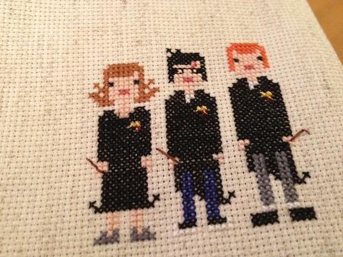 HP gang cross stitch