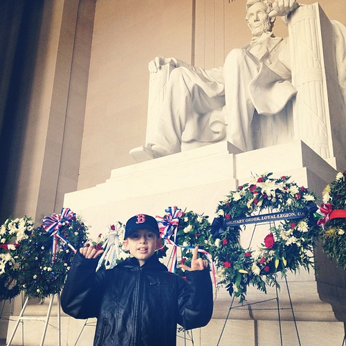 AL (did you know the statue was carved by a Deaf man?) #lincolnmemorial #washingtondc