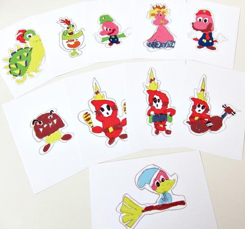 Paper Mario Sticker Star stickers