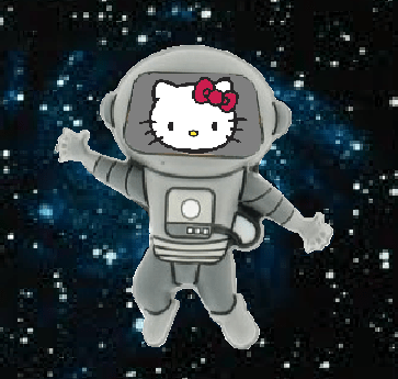 Hello Kitty -- In SPACE!