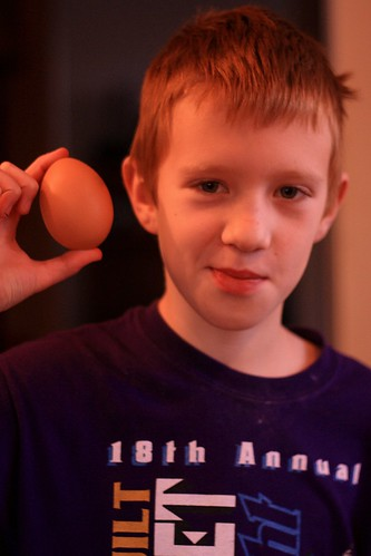 Lincoln and egg