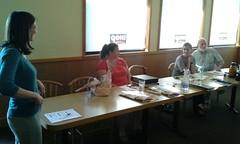 Emily Davenport, Brittney Hull, Angela Bray of SGRC, Dave Hetzel