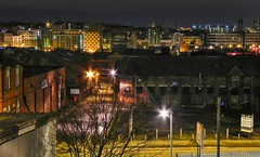 A bit of Leeds skyline at night