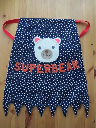 Superbear baby cape