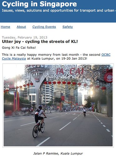 Cycling in Singapore: Utter joy - cycling the streets of KL!