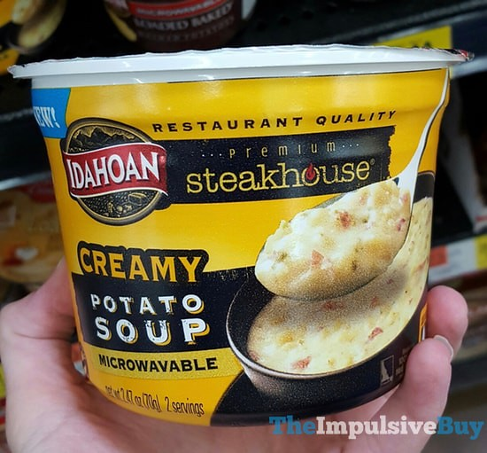 Idahoan Steakhouse Creamy Potato Soup Microwaveable Bowl