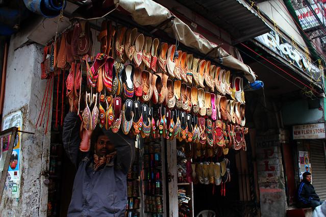 A shoe vendor