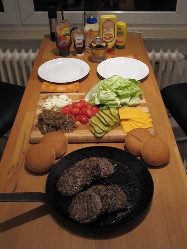 Do-it-yourself-Hamburger Komponentenauswahl