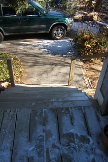 The side deck steps (down which I tumbled a few weeks back! Ouch!!)