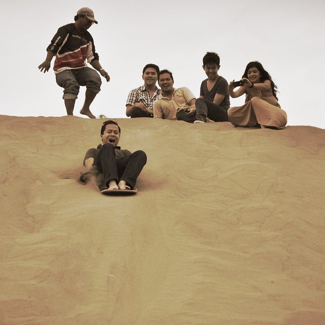 Riding the dune