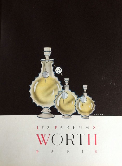 Les Parfums Worth, 1947 advertisement