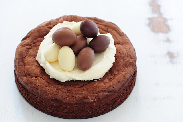 fudgy 5 ingredient chocolate cake-4