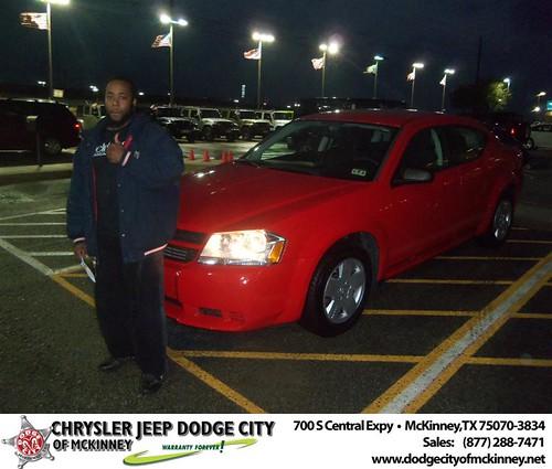 Congratulations to Matthew Johnson on the 2009 Dodge Avenger by Dodge City McKinney Texas