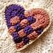 Crochet Valentine Basket Weave Sachet