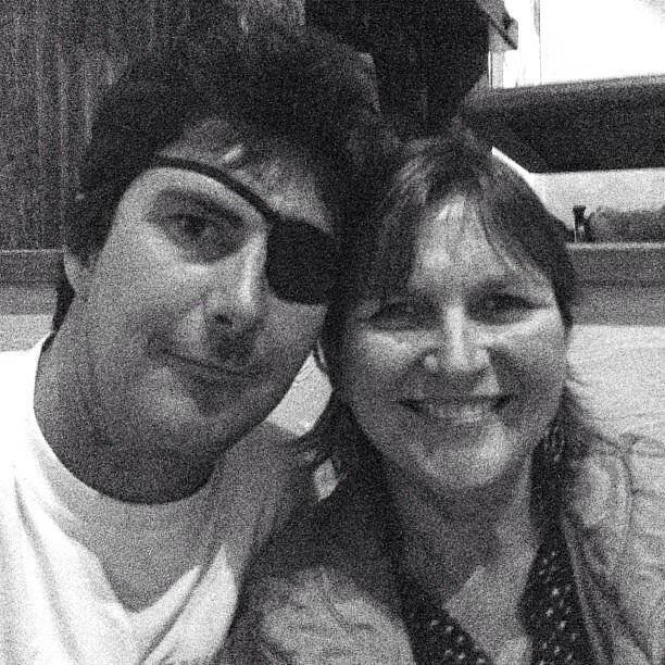 Me and my pirate boy. Love you, son @jestus