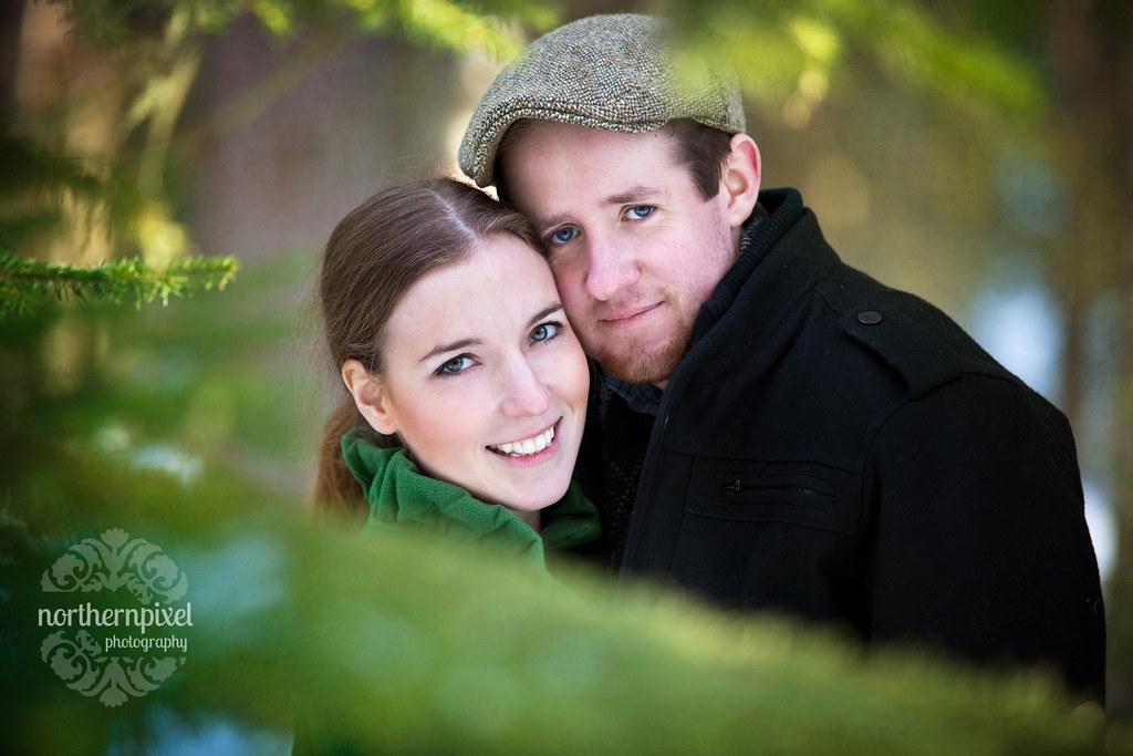 Winter Engagement Session Portrait Prince George British Columbia