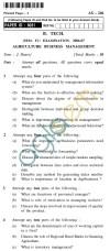 UPTU B.Tech Question Papers - AG-246 - Ag-Business Management