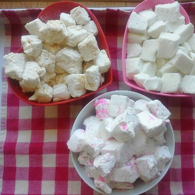 Homemade marshmallows with spirit